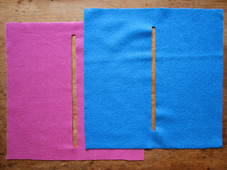 simple hand sewn pencil case pattern pieces