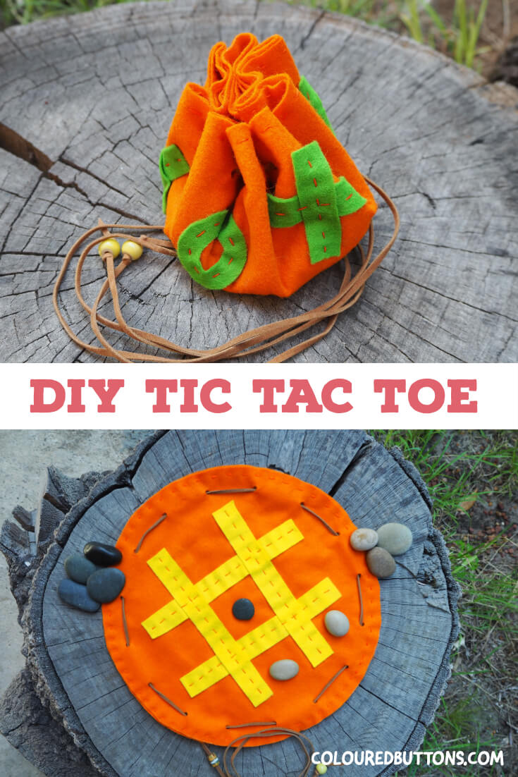 home made tic tac toe pouch