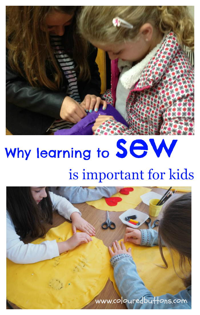 why learning to sew is important for kids