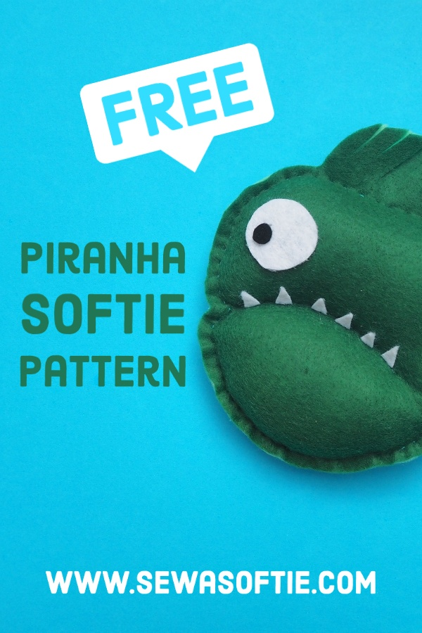 a free pattern for a piranha softie