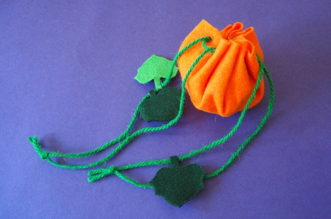 pumpkin treat pouch easy to make kids