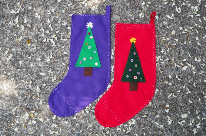 Christmas stocking kids can sew
