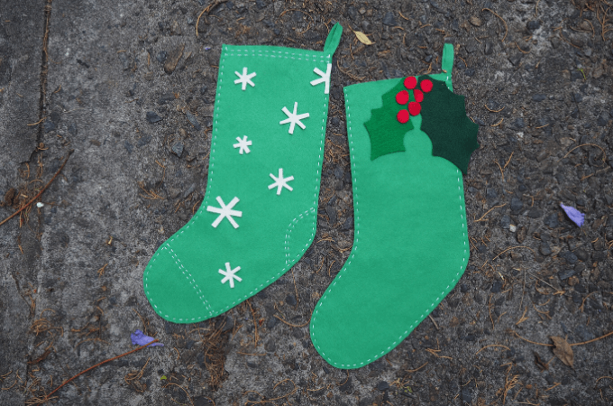 DIY felt Christmas stocking