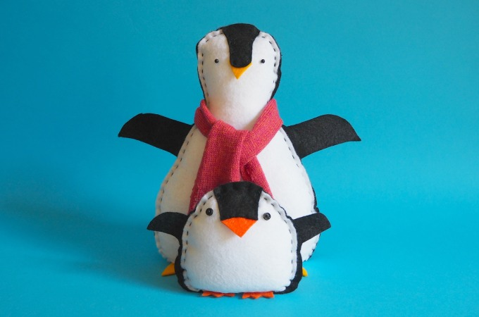 big and little penguin softies
