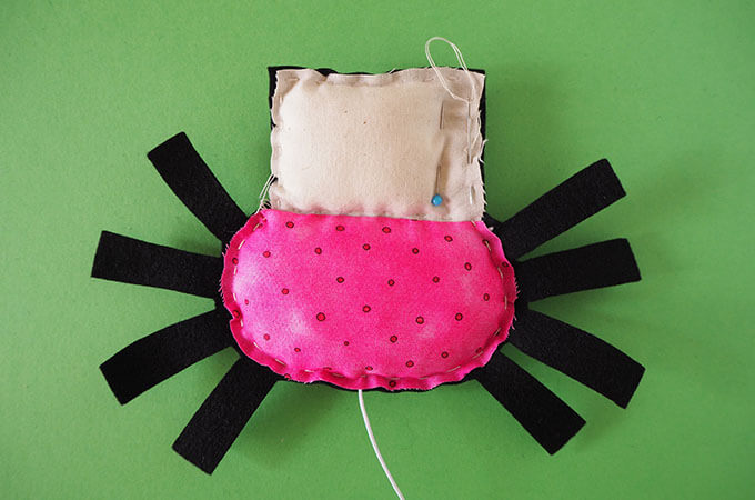 sewing a spider softie