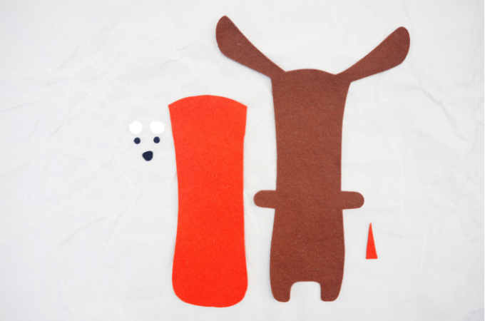 pattern pieces for sewing dog stuffy