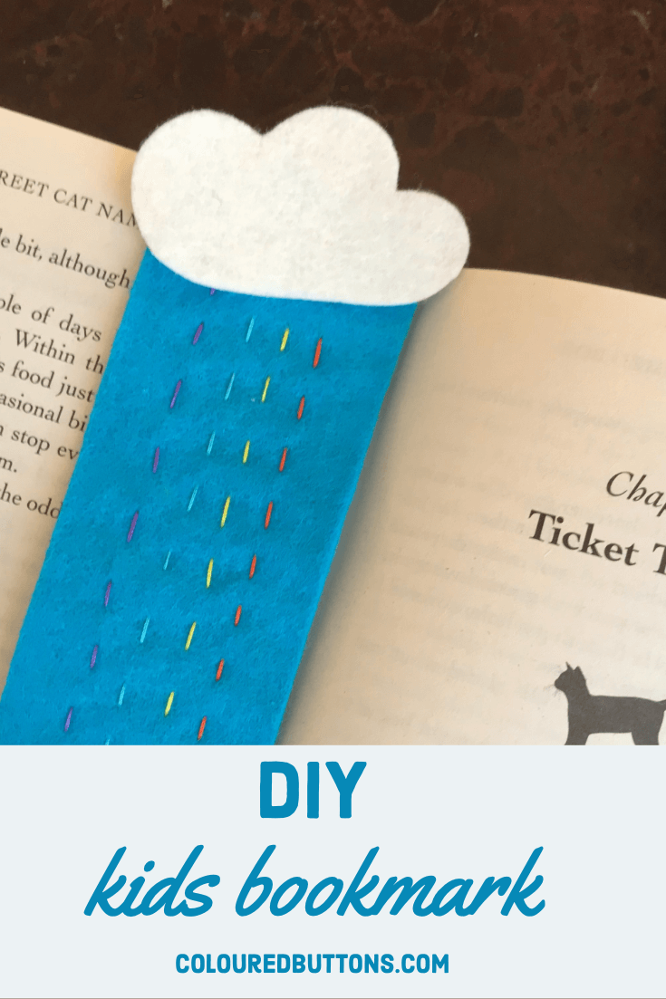 a DIY hand sewn kids bookmark